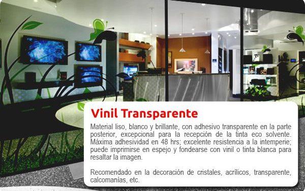 Impresión exterior vinil transparente