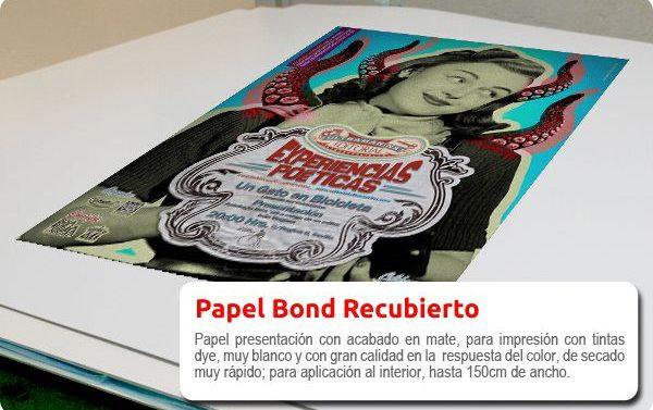 Impresión para interior en papel Bond