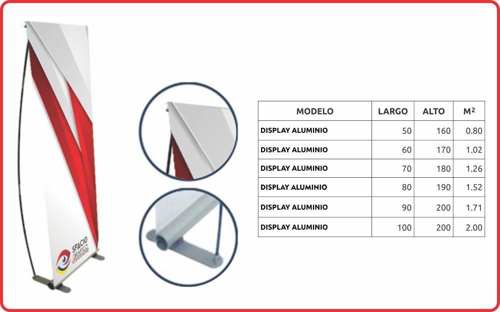 Display con aluminio Spacio Gráfico