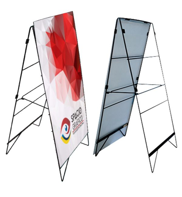 Display tipo caballete